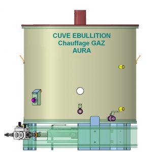 cuve ebullition inox chauffage gaz aura
