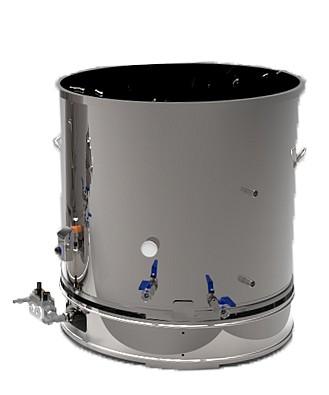 cuve ebullition chauffage gaz brasserie