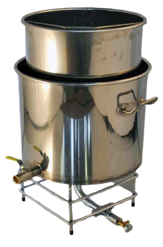 CUVE brassage GAZ 40-60 litres