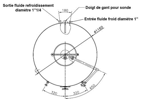 dimensions fermenteur biere 1000 litres standard