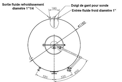 dimensions fermenteur biere 800 litres standard
