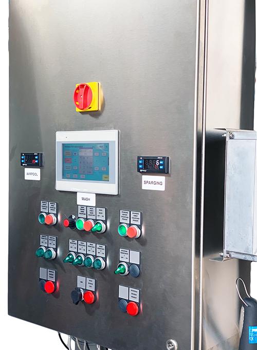 Armoire électrique micro brasserie avec automate tactile