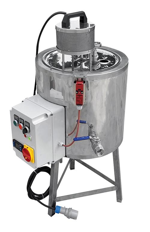 CUVE + Chauffage Electrique + MELANGEUR - 25 litres
